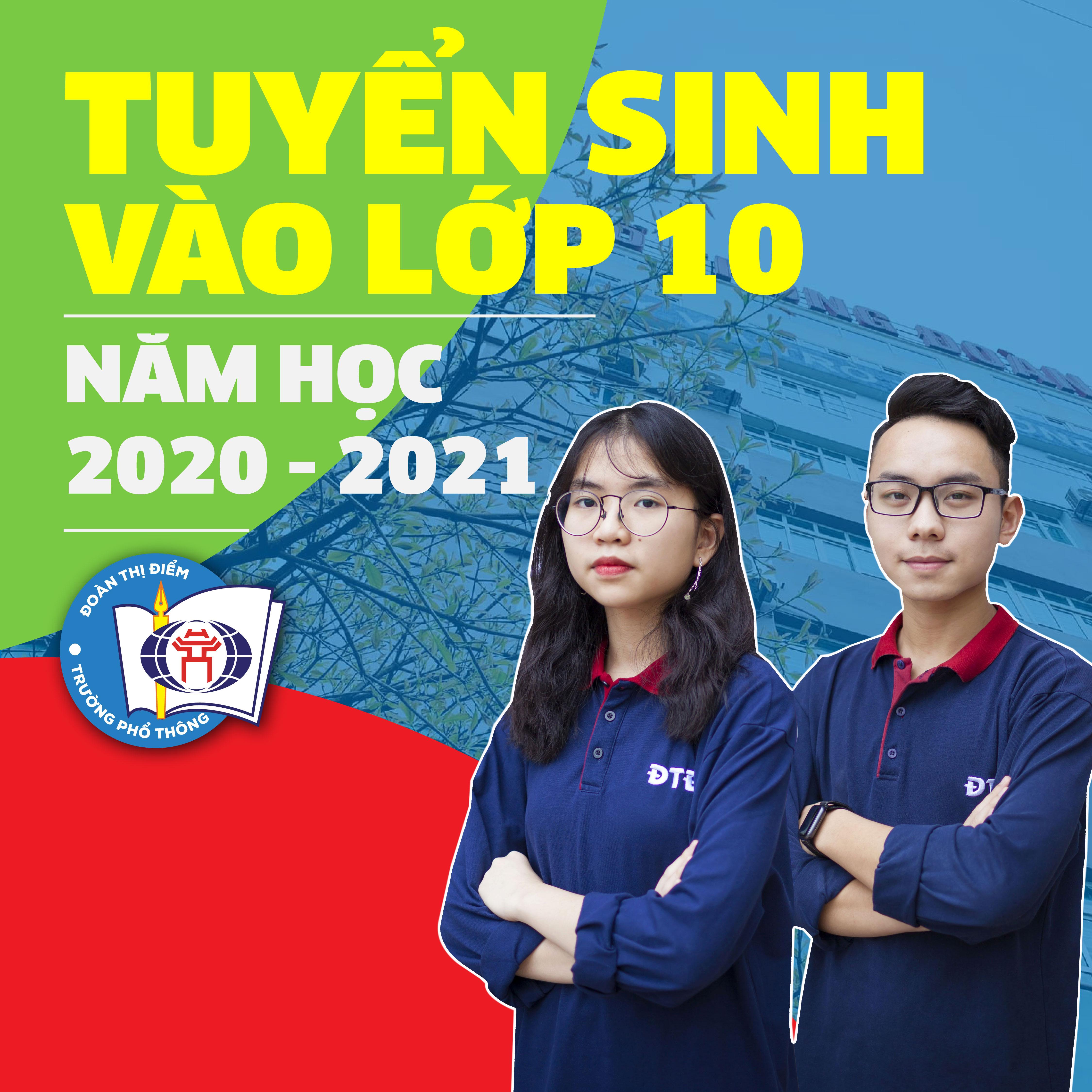 ĐĂNG KÝ TUYỂN SINH TRỰC TUYẾN VÀO LỚP 10, NĂM HỌC 2020 - 2021