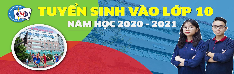 THÔNG BÁO TUYỂN SINH LỚP 10 NĂM HỌC 2020 - 2021