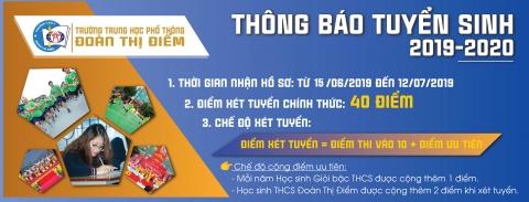 CẬP NHẬT THÔNG TIN TUYỂN SINH NĂM HỌC 2019-2020