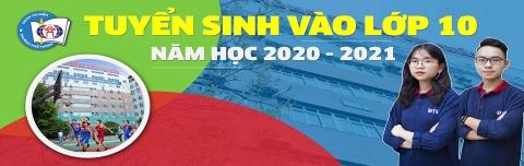 THÔNG BÁO TUYỂN SINH LỚP 10 Năm học 2020 – 2021