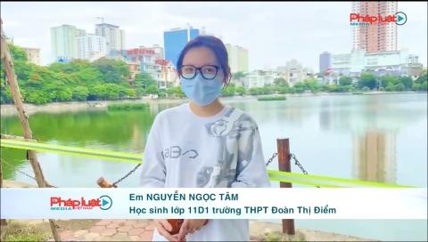 Hà Nội - Hành động đẹp của học sinh dành tiền mua nước tặng chốt phòng dịch